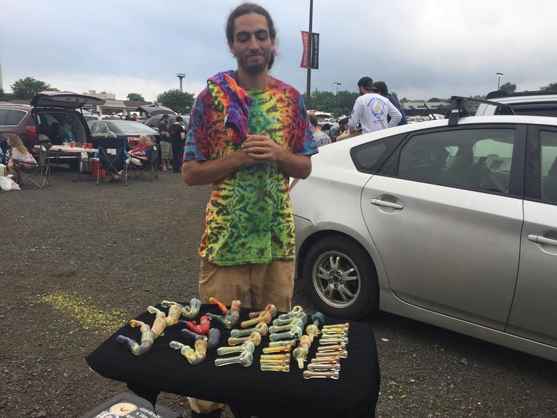 An enterpreneur sells marijuana pipes.