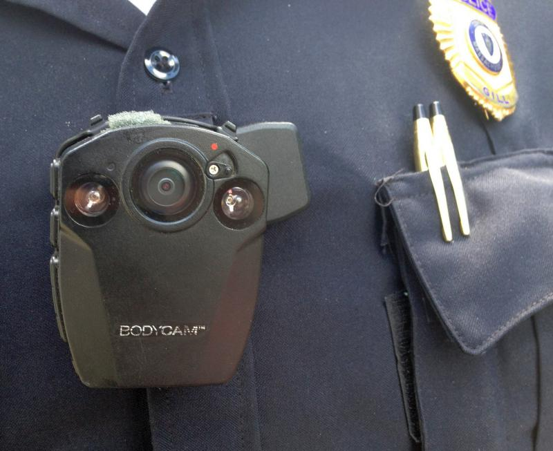 In Gill, Massachusetts, Police Sgt. Christopher Redmond wore a body camera in this 2015 photo.