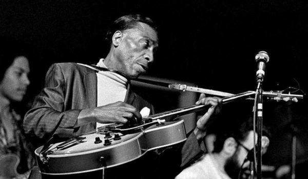 T-Bone Walker with Johnny and Shuggie Otis, probably at the Monterey Jazz Festival, 1970
