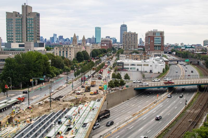 The Commonwealth Avenue Bridge project in Boston, Massachusetts, in August 2017.