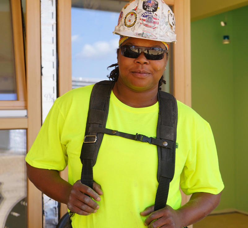 Tyeka Robinson is a carpenter working on the MGM casino project in Springfield, Massachusetts.
