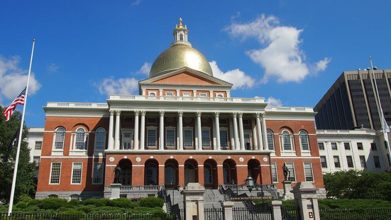 The Massachusetts Statehouse.