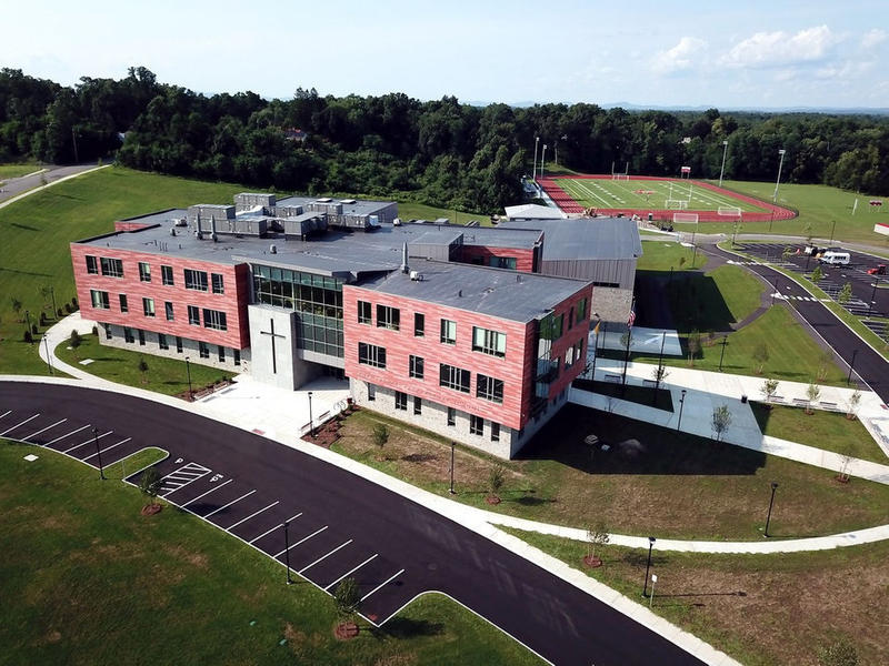 The $54.4 million Pope Francis Preparatory School at the intersection of Wendover and Surrey roads is complete and ready to welcome students.