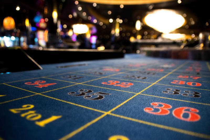 A gambling scene.