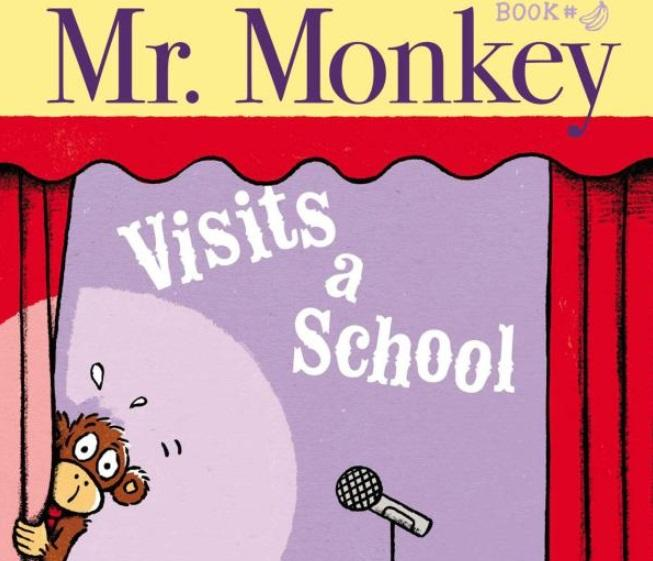 """Mr. Monkey Visits a School"" is the second book in the new series from Jeff Mack, an author and illustrator who lives in Northampton, Massachusetts,"