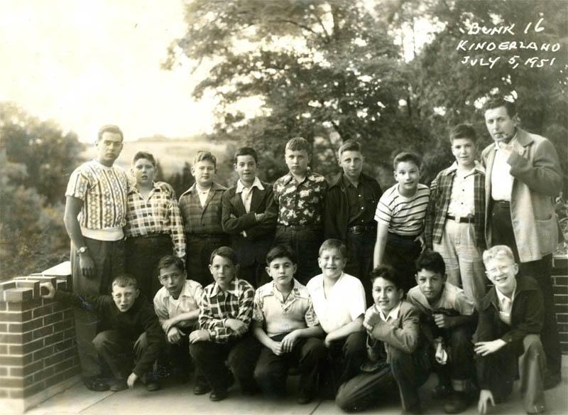 Bunk 16 at Camp Kinderland on July 5, 1951.