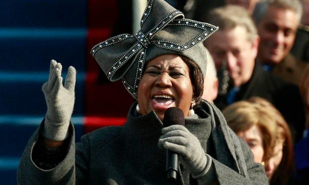 Aretha Franklin at President Barack Obama's Inauguration, January 20, 2009