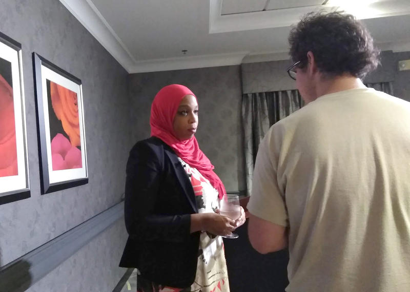 Attorney Tahirah Amatul-Wadud at an August 10, 2018 press conference.