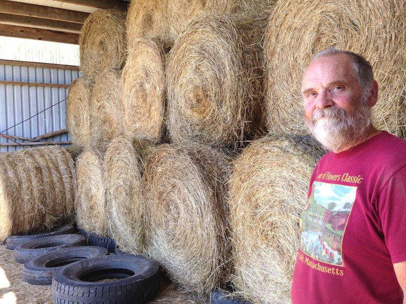 Pete Williams is a dairy farmer in Shelburne, Massachusetts. He's trying to fit as many hay bales in his barn as he can, because he's having trouble selling enough of it.