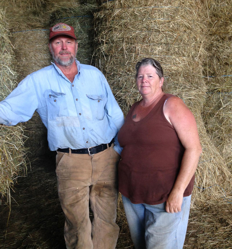 Dairy farmers Norm and Lisa Davenport in Shelburne, Massachusetts, sold the last of their milk herd in February. They are having trouble finding enough customers with livestock to sell their hay.