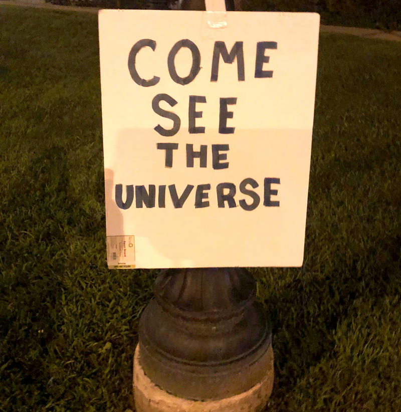 A self-taught astronomer in Great Barrington, Massachusetts has been taking his telescope out at night to teach anyone who wants to learn about the universe.