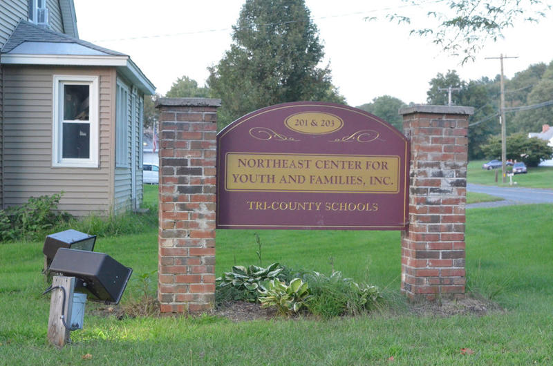 A sign for Tri-County Schools in Easthampton, Massachusetts.