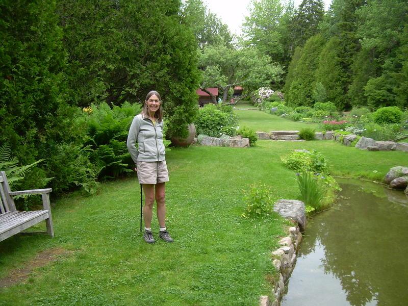 Susan Johnson at Thuya Gardens in Northeast Harbor, Maine.