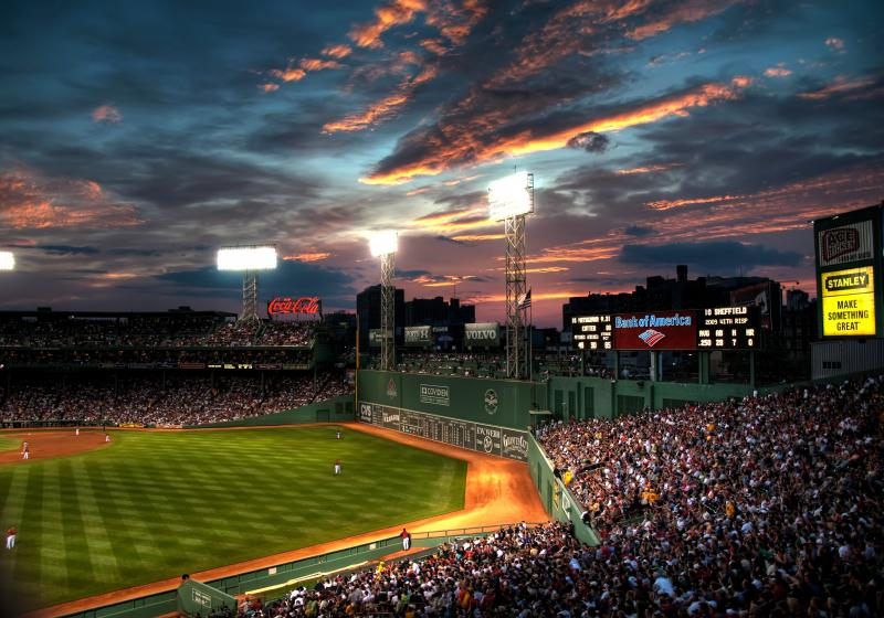Fenway Park in Boston.
