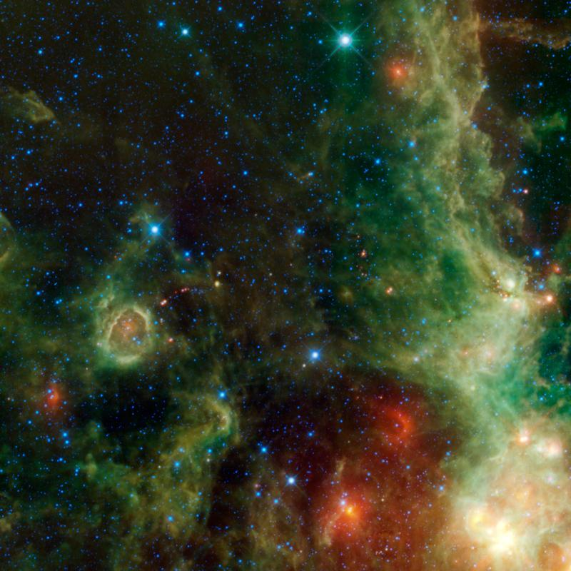 A view within the constellation Cassiopeia of another portion of the vast star forming complex that makes up part of the Perseus spiral arm of the Milky Way Galaxy.