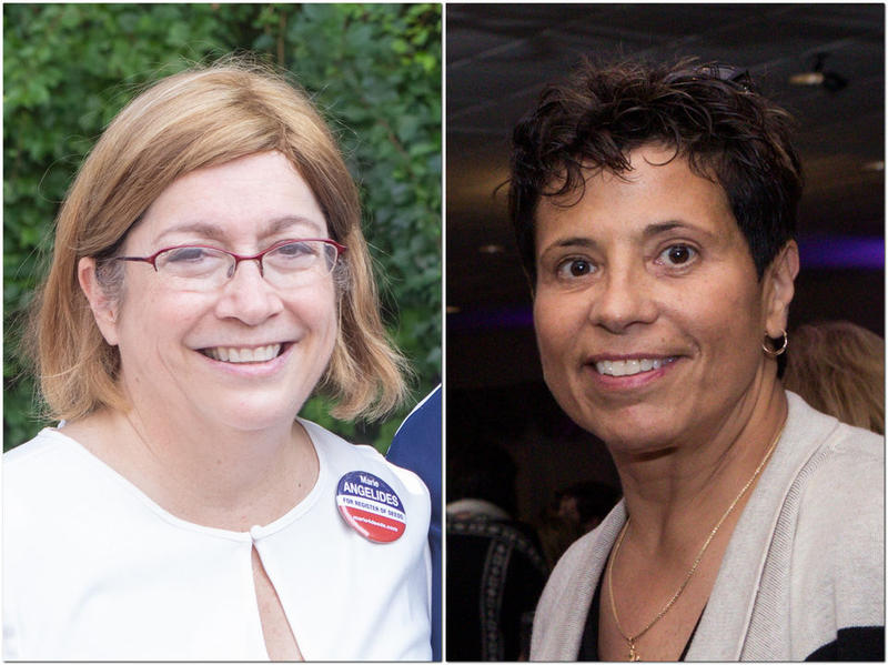 Marie Angelides (left), a candidate for Hampden County Register of Deeds, says her opponent, Cheryl Coakley-Rivera, turned in nomination papers with forged signatures