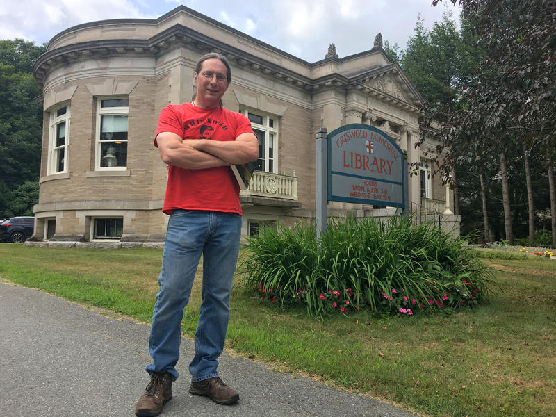 Drew Lopenzina at the Griswold Memorial Library in Colrain, Massachusetts.