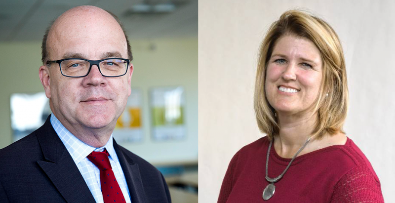 Massachusetts Democratic Congressman Jim McGovern, at left, and Republican challenger Tracy Lovvorn.