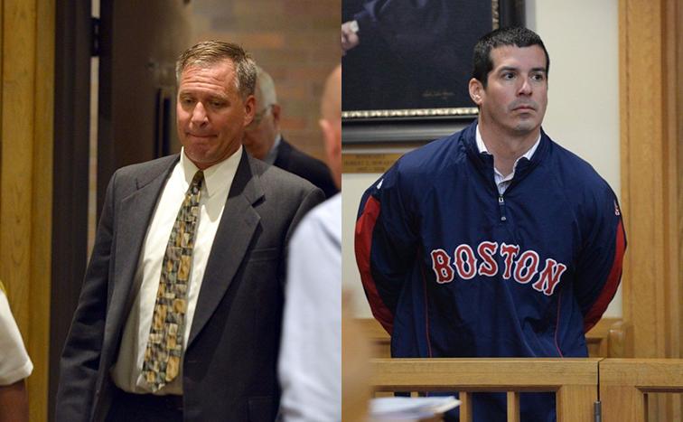 Springfield, Massachusetts, police officer Gregg Bigda, left, and former Springfield detective Steven Vigneault, right.