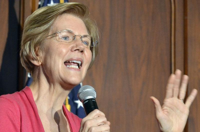 Elizabeth Warren speaks at a town hall meeting in Holyoke on September 29, 2018.