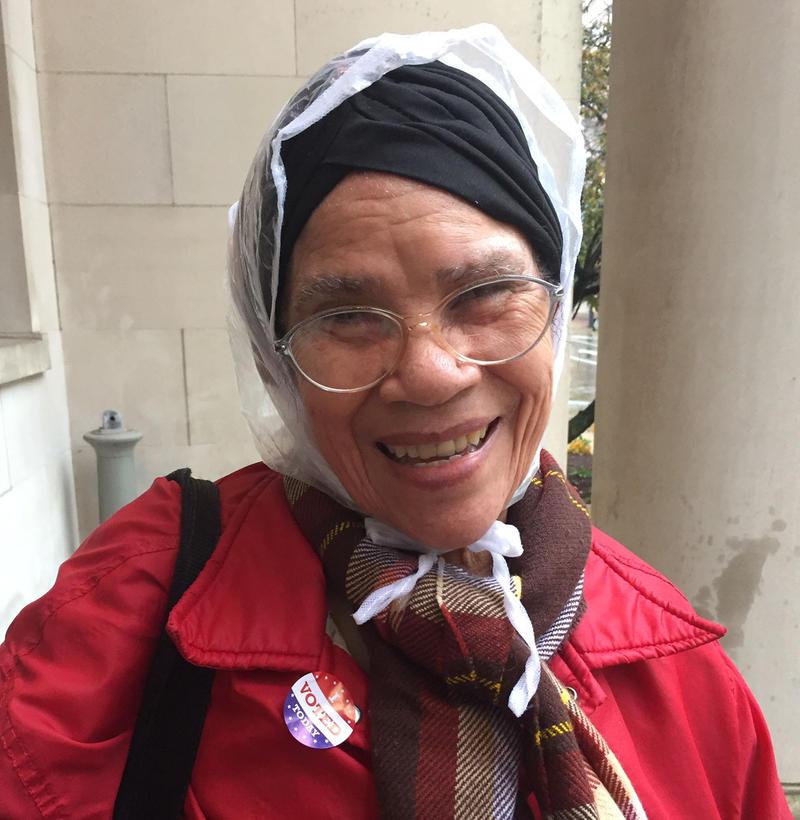 Rafaelle Gonzalez in Springfield, Massachusetts, after voting in ward 1.