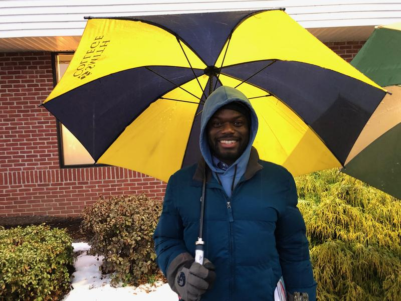 Daqqan Hamilton lives in Northampton, Massachusetts, and was first in line at New England Treatment Access on Tuesday.
