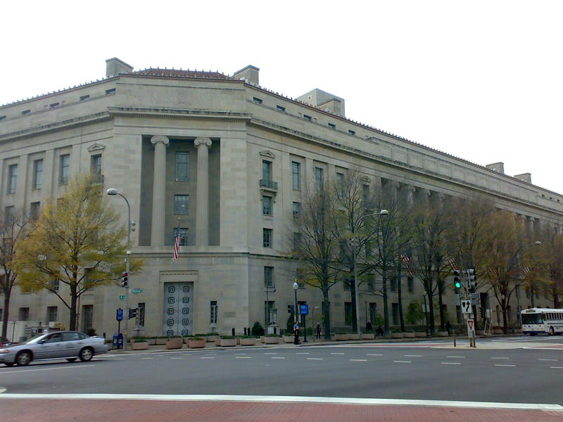 The U.S. Department of Justice in Washington, D.C.