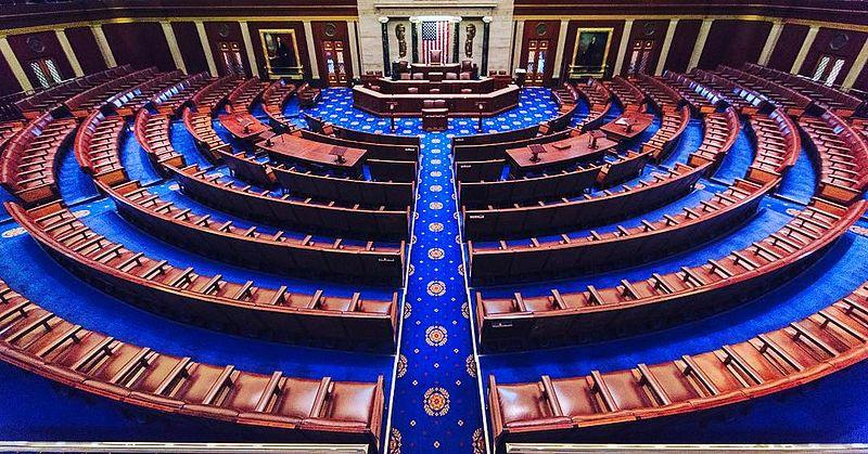 The chamber of the U.S. House of Representatives.