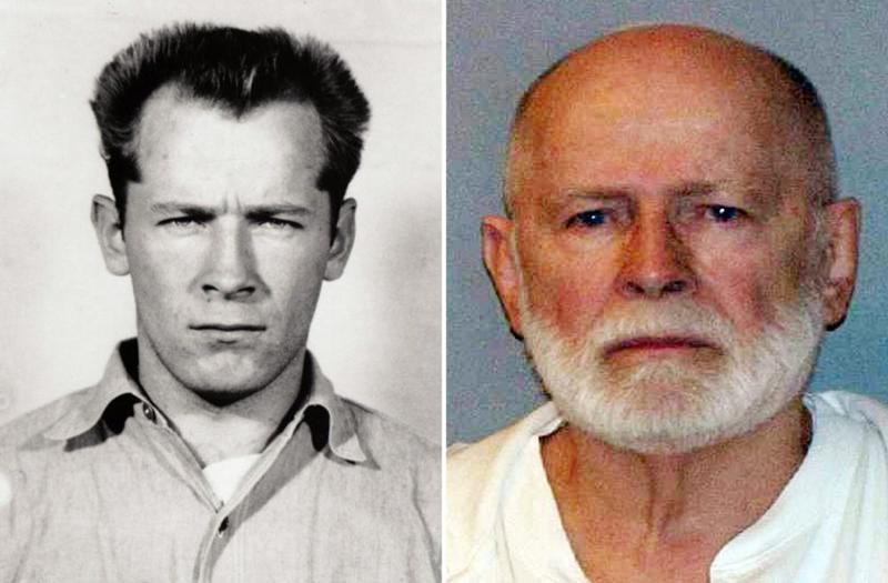 "James ""Whitey"" Bulger is seen in two booking photos, decades apart -- 1959 and after his capture in 2011. The convicted mobster and murderer has died in prison."