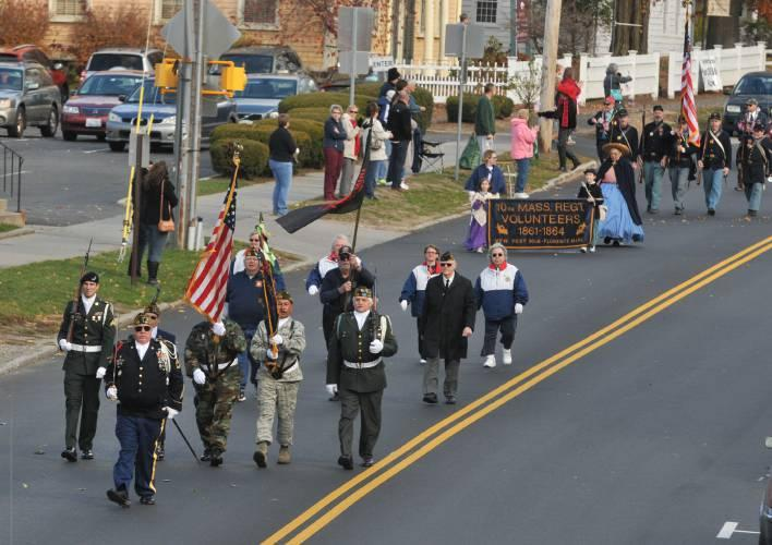 The 2016 Veterans Day parade in Northampton, Mass.