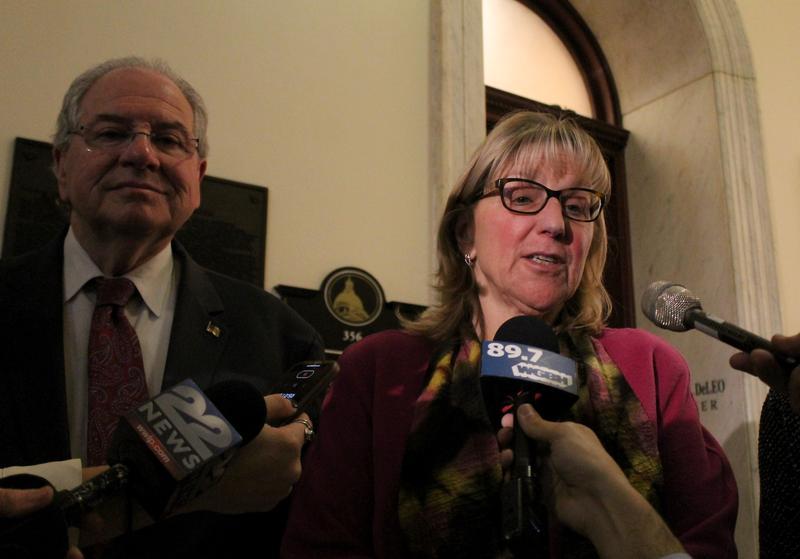 """Massachusetts Senate President Karen Spilka, with House Speaker Robert DeLeo, said this week the Senate will """"hopefully"""" take up Gov. Charlie Baker's gas safety bill and """"maybe make some tweaks to it."""""""