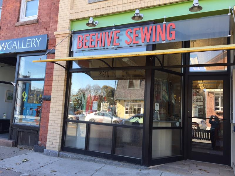 Beehive Sewing Studio in downtown Northampton, Massachusetts.