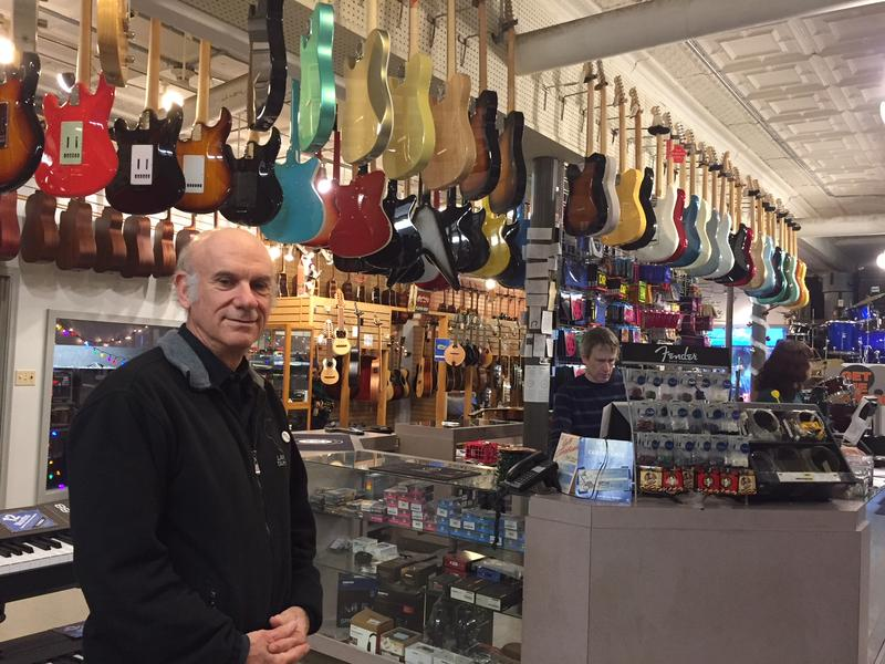 Joe Blumenthal, owner of Downtown Sounds in Northampton, Massachusetts.