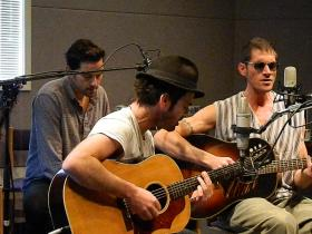 Mark Puzey, David Saw, and Ben Taylor in Studio A