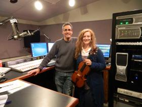 Triad Arts host David Ford and violist Sheila Browne