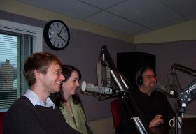 Twin City Stage actors Michael Ackerman, Rene-Lynn Walek,  and director Stan Bernstein.