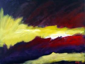 """Wendell Myer's painting titled """"Fire Within."""""""