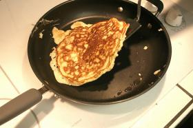 Pancake fundraiser for Habitat for Humanity underway Tuesday.