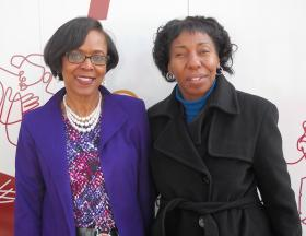 Delores Turner (left) and her friend Monica Johnson (right). Turner says it took her years to learn to be proud of herself while working hard to achieve personal goals.