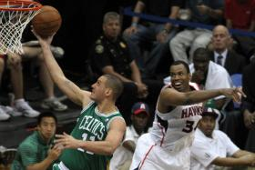 NBA player Jason Collins is the first professional athlete to announce he is gay. He played with the Boston Celtics (2012-2013). He now plays with the Washington Wizards.