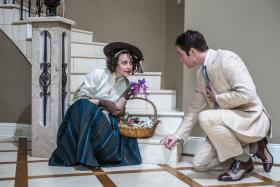 Julia Osborne and Nick Cartell in Triad Stage's production of My Fair Lady.