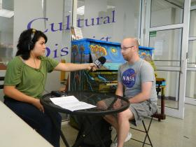 Radio Camper Gabby Costa interviews Mark Charles Smith