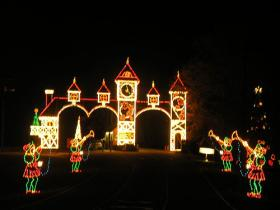 Santa Claus, Mrs. Claus and a BB&T representative will turn on the lights in Tanglewood Park on Saturday, Nov. 23.