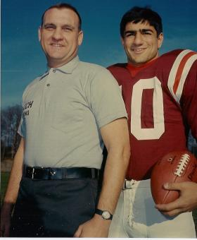 Frank Loria (r). He was an assistant coach with the Marshall University Thundering Herd in 1970. He died when the team's plane crash after playing East Carolina University. Loria was 23. His son, Frank Loria, Jr., was born a month after his death.