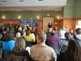 IMPRINTS is partnering with WSFC school administrators and community organizations for the school choice information event on Thursday at the Old Salem Visitor Center. Last year's event was held at St. Paul's Episcopal Church. Dr. Bill Satterwhite (pictured at podium) will once again be a guest speaker.