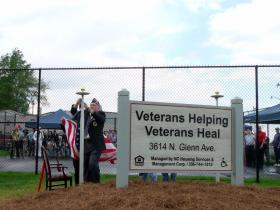 Veterans Helping Veterans on North Glenn Avenue in Winston-Salem is a transitional housing program for male homeless veterans. The facility opened in April 2012.