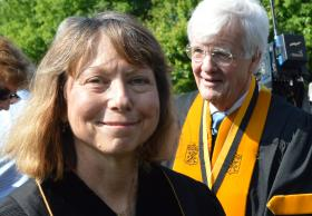 "Jill Abramson, the former executive editor of The New York Times, delivered the commencement address at Wake Forest University on Monday. The event was her first public appearance since being dismissed from the newspaper last week. Her speech titled ""The Importance of a Truly Free Press"" was well received by the audience."
