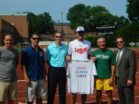 "Organizers of the 2014 USA Track and Field Masters Outdoor Championships held a news conference at Kentner Stadium on the campus of Wake Forest University on Wednesday, June 4. The competition is open to people ages 30 and older. The motto for this year's event is ""Older, Slower, Lower."""