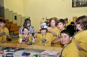 Students participate in the Robot Run in Winston-Salem