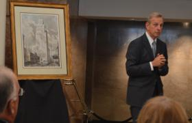 Ron Caplan, president of PMC Property Group, answers a question during a press conference at the former R.J. Reynolds headquarters building in downtown Winston-Salem on Friday, June 27, 2014.
